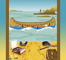 Phone case: Canoeing to Moonrise Kingdom by Steven House