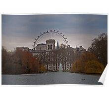 View from St James Park, London Poster