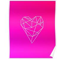 Geometric Heart Poster