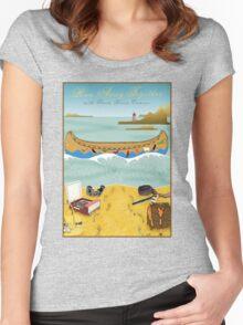 Tee: Canoe to Moonrise Kingdom Women's Fitted Scoop T-Shirt