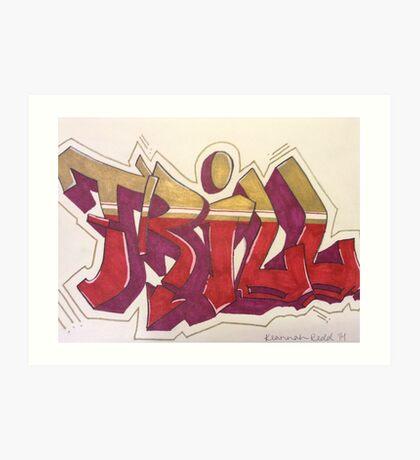 """""""Trill"""" Graffiti Art Print"""