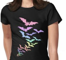 Pastel Bats Womens Fitted T-Shirt