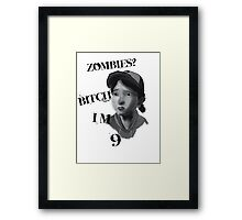 Walking Dead With Clementine Framed Print