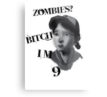 Walking Dead With Clementine Metal Print