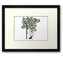 Saying I Love You Might Be Hard Framed Print