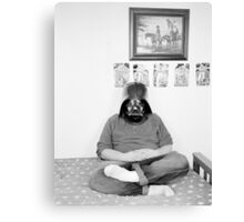 Robert with Darth Vader Mask - 2009 Canvas Print