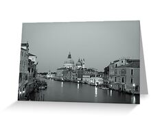 Looking down the canal. Greeting Card