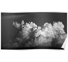 CUMULUS CLOUDS IN BLACK AND WHITE Poster