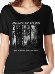 Obscure Band Women's Relaxed Fit T-Shirt