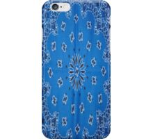 Blue Bandana  iPhone Case/Skin