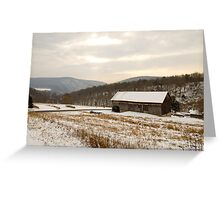 Wintry Farmland Greeting Card
