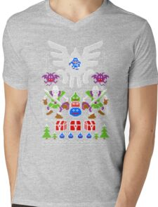 Dragon Quest Ugly Sweater Mens V-Neck T-Shirt