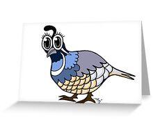 Quincy Quail Greeting Card