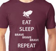 Eat Sleep Brave Brave Brave Repeat (white) Unisex T-Shirt