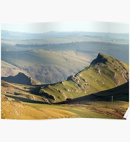 Chrome Hill from Axe Edge Poster