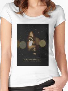 Nina Simone I Put A Spell On You Women's Fitted Scoop T-Shirt