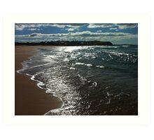 Shimmery beach scene Jones Beach Art Print