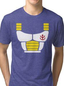 Minimalist Saiyan armor Tri-blend T-Shirt