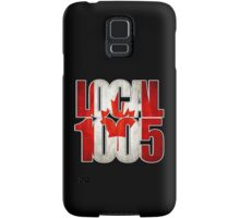 Local 1005 Canada Flag (Black) Samsung Galaxy Case/Skin