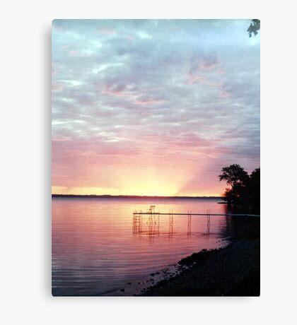 Lake Winnebago Sunrise Canvas Print