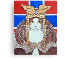 Freya, Goddess of Love & War Cat Canvas Print