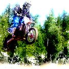 """""""Dare to Fly"""" Motocross Racer by NaturePrints"""