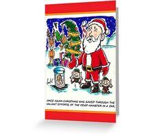 Dead Hamster Christmas Card Greeting Card