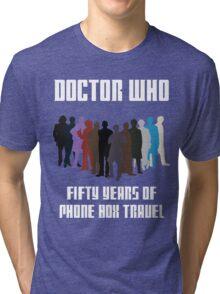 50 Years of Phone Box Travel Tri-blend T-Shirt