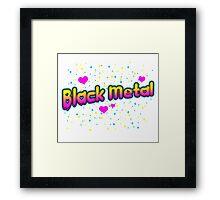 XO Black Metal Framed Print