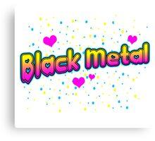 XO Black Metal Canvas Print