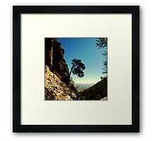 Rocky Cliff Gap Framed Print