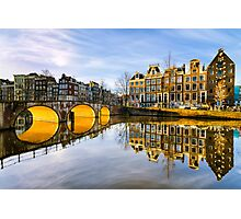 Winter morning in Amsterdam Photographic Print
