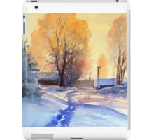 Winter light. Village. Russia iPad Case/Skin