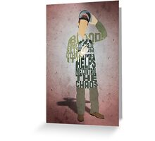 Michael Hall in Dexter Typography Design Greeting Card