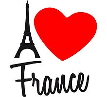 I Love France Eiffel Tower Paris by Style-O-Mat