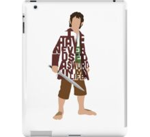 Martin Freeman in The Hobbit Typography Design iPad Case/Skin