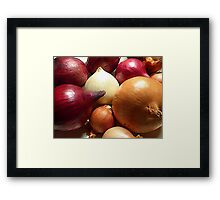 Do You Know Your Onions!! Framed Print