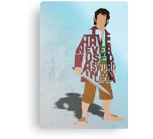 Martin Freeman in The Hobbit Typography Design Canvas Print