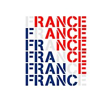 France Text Design Photographic Print