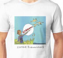 Zombie Birdwatcher Craaanneesss Unisex T-Shirt