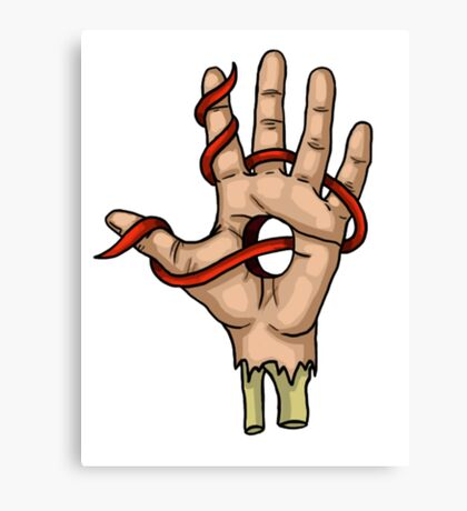 Ribbon Fingers Canvas Print