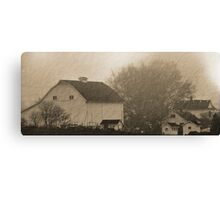 foggy farmstead 2 Canvas Print