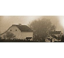 foggy farmstead 2 Photographic Print