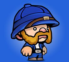 Spelunky - Blue Hunter by AJDeCaprio