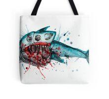 Shark Skeleton Watercolor Tote Bag