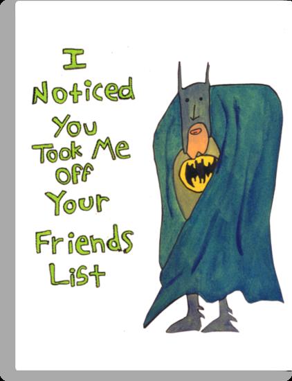 Batman's Facebook Friend's List by KenTanakaLovesU
