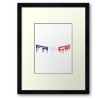 France Graffiti Framed Print