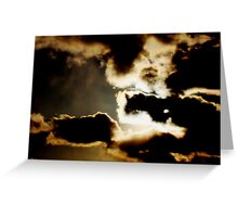 Sky dark images in clouds Greeting Card