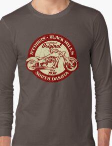 Sturgis, South Dakota (Vintage Distressed Design) Long Sleeve T-Shirt