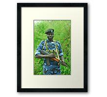 South Sudanese policeman Framed Print